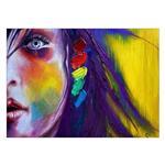 تابلو شاسی ونسونی طرح Abstract Face Painting  سایز 50x70 سانتی متر