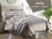 ست لحاف روتختی دونفره نسکافه ای زارا مدل Helix