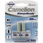 Camelion 2Pcs Long Life Always Ready 900 mAh ReChargeable AAA Battery