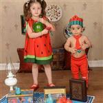 پیراهن هندوانه یلدا تا ۳ سال