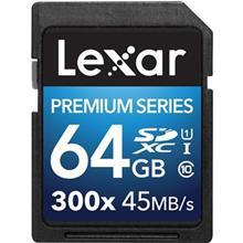 Lexar Premium UHS-I U1 Class 10 300X 45MBps SDXC - 64GB