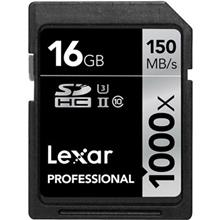 Lexar Professional UHS-II U3 Class 10 1000X 150MBps SDHC - 16GB