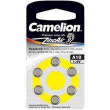 Camelion A10 Hearing Aid Battery Pack Of 6