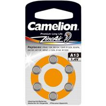 Camelion A13 Hearing Aid Battery Pack Of 6