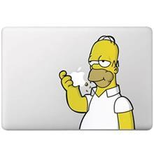 Wensoni Simpson Om Nom MacBook Sticker For MacBook Air/Pro 13