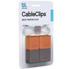 blueLounge CableClip Medium Cable Holder Pack Of 4