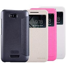 Nillkin Sparkle Leather Flip Cover For HTC Desire 616