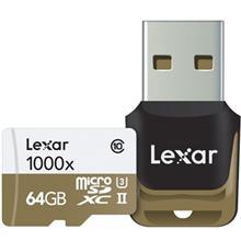 Lexar Professional UHS-II U3 Class 10 1000X microSDXC USB 3.0 Reader - 64GB