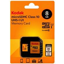 Kodak UHS-I U1 Class 10 85MBps 580X microSDHC With Adapter - 8GB