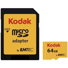 Emtec Kodak UHS-I U1 Class 10 85MBps 580X microSDXC With Adapter - 64GB