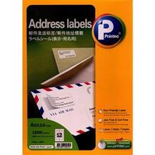 Printec A0120 Address Labels Pack Of 100