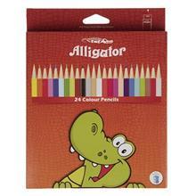 مداد رنگي 24 رنگ اليگيتور