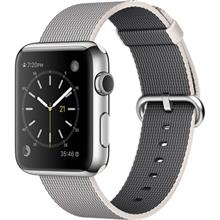 Apple Watch 42mm Steel Case with Pearl Woven Nylon Band