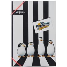 پوشه کش دار کلیپس طرح پنگوئن