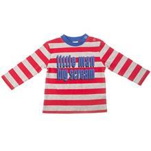 تي شرت آستين بلند آدامز بيبي طرح قرمز طوسي