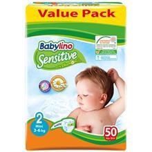 پوشک بيبي لينو سايز 2 مدل Value Pack بسته 50 عددي