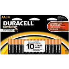 Duracell Coppertop Duralock Alkaline AA Battery Pack Of 16