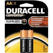 Duracell Coppertop Duralock Alkaline AA Battery Pack Of 2