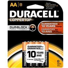 Duracell Coppertop Duralock Alkaline AA Battery Pack Of 8