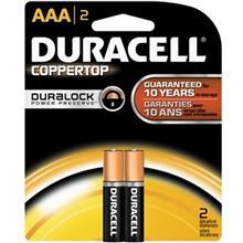 Duracell Coppertop Duralock Alkaline AAA Battery Pack Of 2