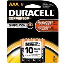 Duracell Coppertop Duralock Alkaline AAA Battery Pack Of 8