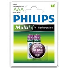 Philips MultiLife 800mAh Rechargeable AAA Battery