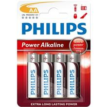 Philips Power Alkaline AA Battery Pack Of 4