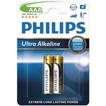 Philips Ultra Alkaline AAA Battery Pack Of 2