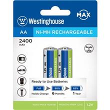 Westinghouse Ni-MH Rechargeable AA 2400 mAh Battery Pack of 2