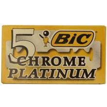 تيغ يدک سنتي بيک مدل Platinum Chromium Double Edge بسته 5 عددي