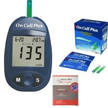تست قند خون ايکان مدل On Call Plus G113-111 به همراه 2 بسته نوار On Call Plus G113-115 و يک بسته سوزن سلکتا مد مدل 30G