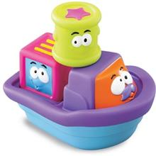 Blue Box Blue Stacking Block Tug Boat Bath Toys