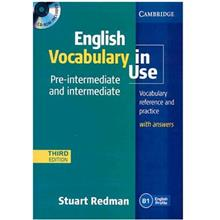 کتاب زبان English Vocabulary In Use Pre-intermediate and Intermediate Third Edition