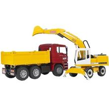 Bruder Man Construction Truck With Excavator Toys Car