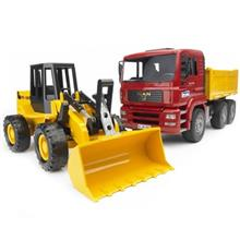 Bruder Man Construction Truck With Loader Toys Car