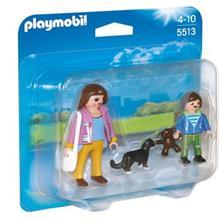 ساختني پلي موبيل مدل Mother with School Child Duo Pack 5513