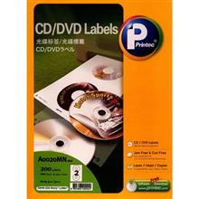 Printec A0020MN CD-DVD Labels Pack Of 100