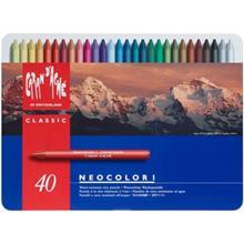 پاستل روغني 40 رنگ Caran d'Ache سري Neocolor I مدل 340