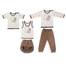 ست لباس نوزادي ندا و ساراگل مدل 1582