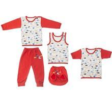 ست لباس نوزادي ندا و ساراگل مدل 3492