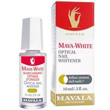 محلول بهبود دهنده رنگ ناخن ماوالا مدل ماوا وايت حجم 10 ميلي ليتر
