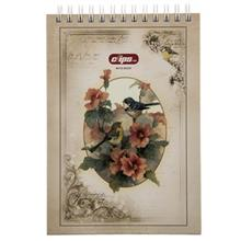 Clips Flower and Bird Design Notebook - 100 Sheets