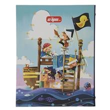 Clips Little Pirates Design Ring Binder Notebook - 100 Sheets