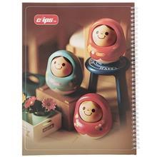 دفتر نقاشي کليپس عروسک چوبي