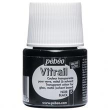 رنگ ويتراي پ ب او شفاف مدل Vitrail Black 15 حجم 45 ميلي ليتر