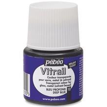 رنگ ويتراي پ ب او شفاف مدل Vitrail Deep Blue 10  حجم 45 ميلي ليتر