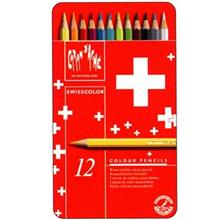 مداد رنگي 12 رنگ کارن داش سري سوييس کالر مدل 1285712