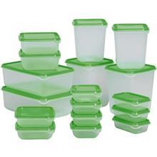 ست 17 تکه ظروف نگهدارنده غذا ايکيا مدل Pruta