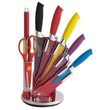 ست چاقوی آشپزخانه پایه دار 8 پارچه رویالتی لاین مدل Rl-COL8-W