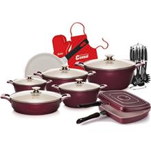 Candid Nobel Glass Lid Butterfly Handle Cookware Set 23 Pieces